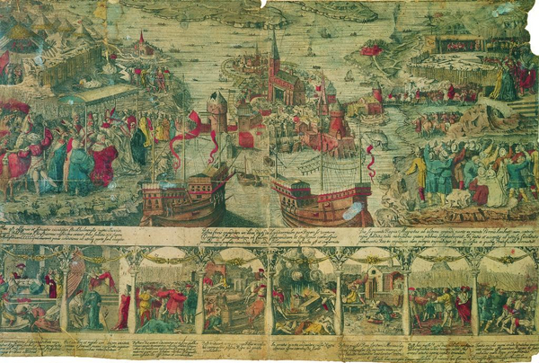 Kobberstik kongelige bibliotek 1676