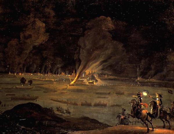 Stormen paa Koebenhavn 11  februar 1659  Maleri af Daniel Vertangen  Rosenborg Slot